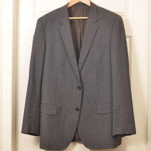 Hugo Boss 46L Chocolate Pinstripe SB Suit